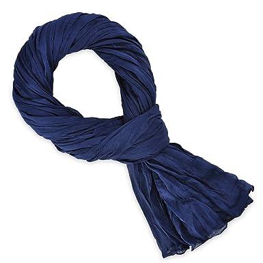 808425a8d235 Chèche coton bleu marine uni  Amazon.fr  Vêtements et accessoires
