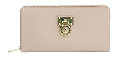 5f473df08a47a8 Michael Kors Hamilton Traveler Large Zip Around Cluch Wallet Brown/Luggage ( Ballet)