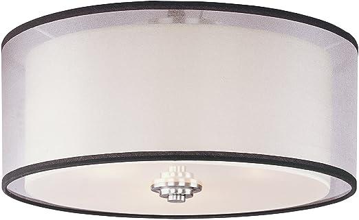 maxim lighting 23031swsn orion 3light flush mount satin nickel finish with satin white