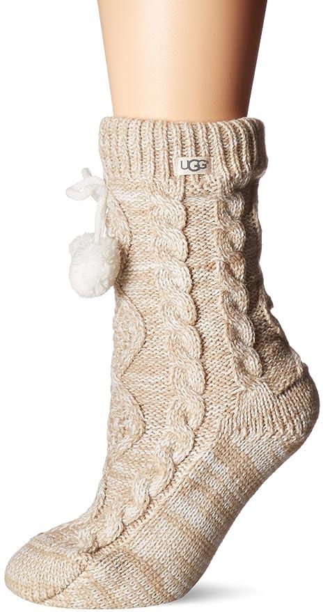 b7027690a9d UGG Women's Pom Fleece Lined Crew Sock
