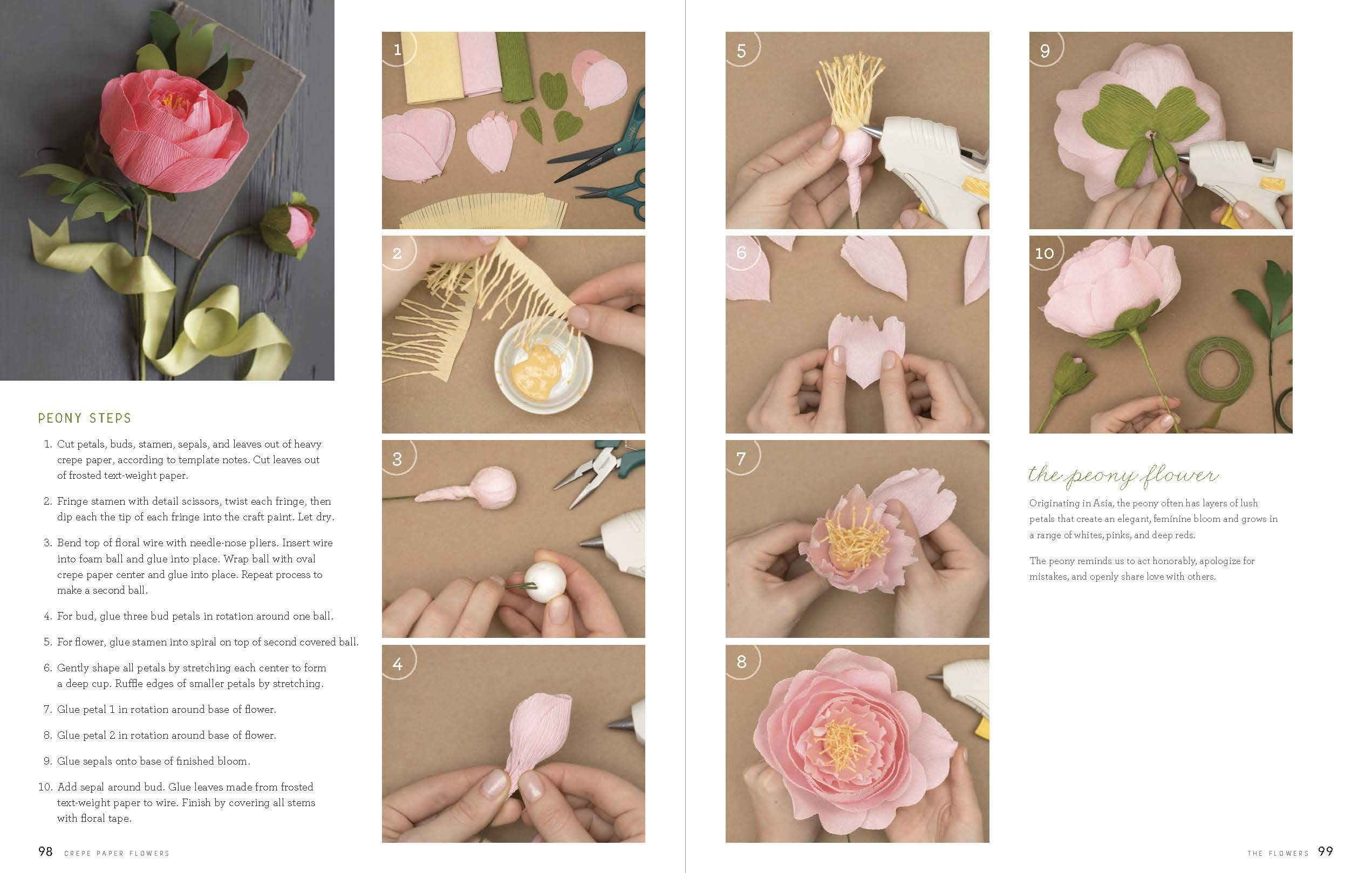 Crepe Paper Flowers The Beginners Guide To Making And Arranging