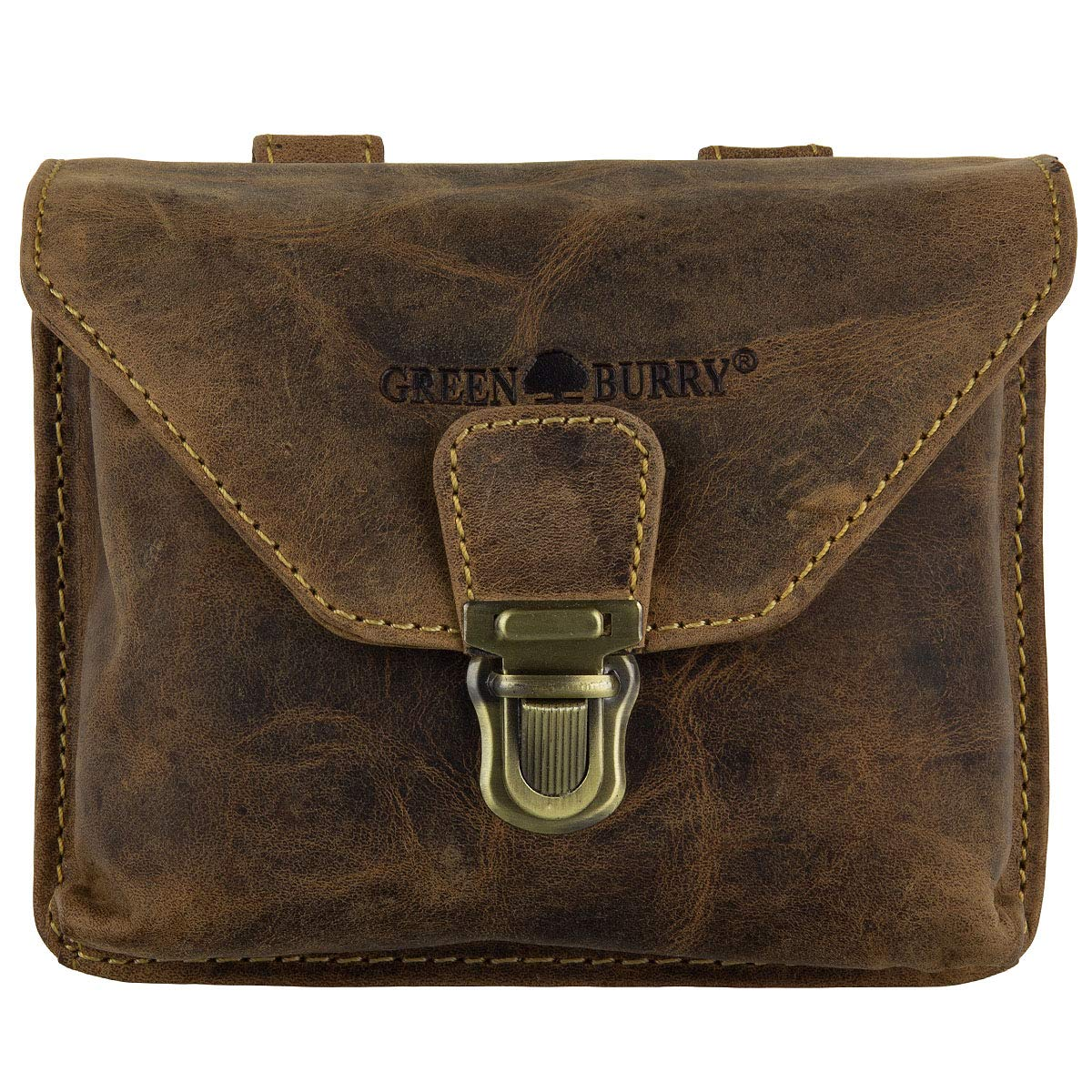 Greenburry Vintage Bum Bag Leather 15 cm sattelbraun 1754V-25