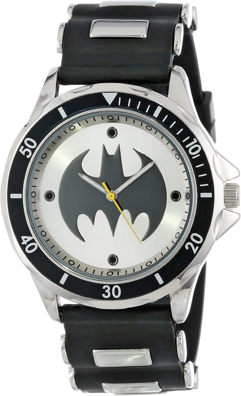 Batman Men s BAT9062 Analog Watch With Black Rubber Band