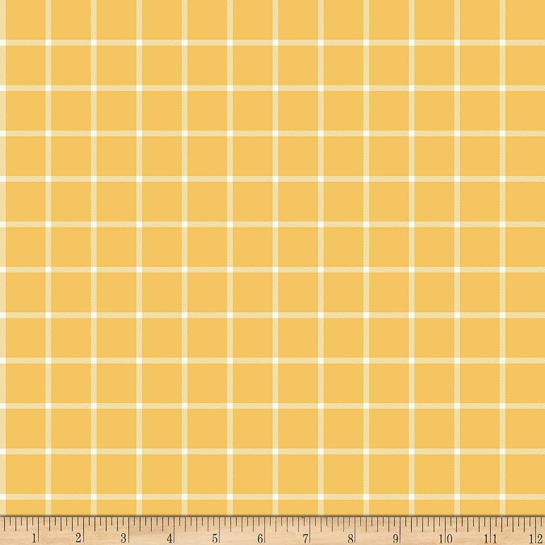 Riley Blake Fabric Plaid Fabric Wild Bouquet Plaid Mustard Mustard Yellow Fabric