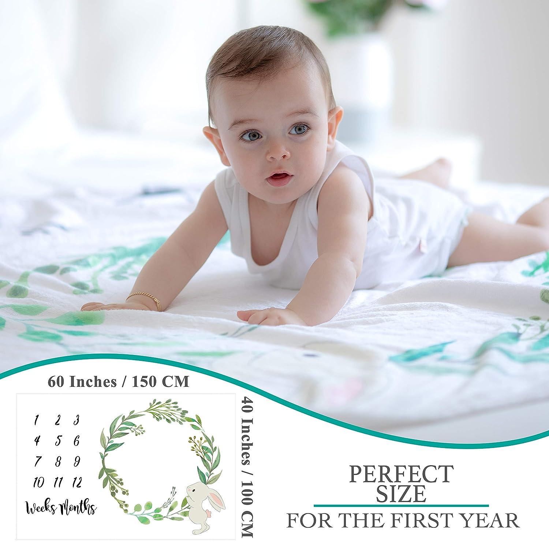 Suave Gruesa Y Grande Regalos Personalizados Para Futuras Mam/ás Registra Su Edad Y Crecimiento Manta Mensual De Beb/é Para Fotos Unisex Manta Mensual De Hito Para Beb/é
