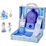 Disney's Frozen 2 Pop Adventures Ahtohallan Adventures Pop-Up Playset with Handle, Including 2 Elsa Dolls, Toy for Kids