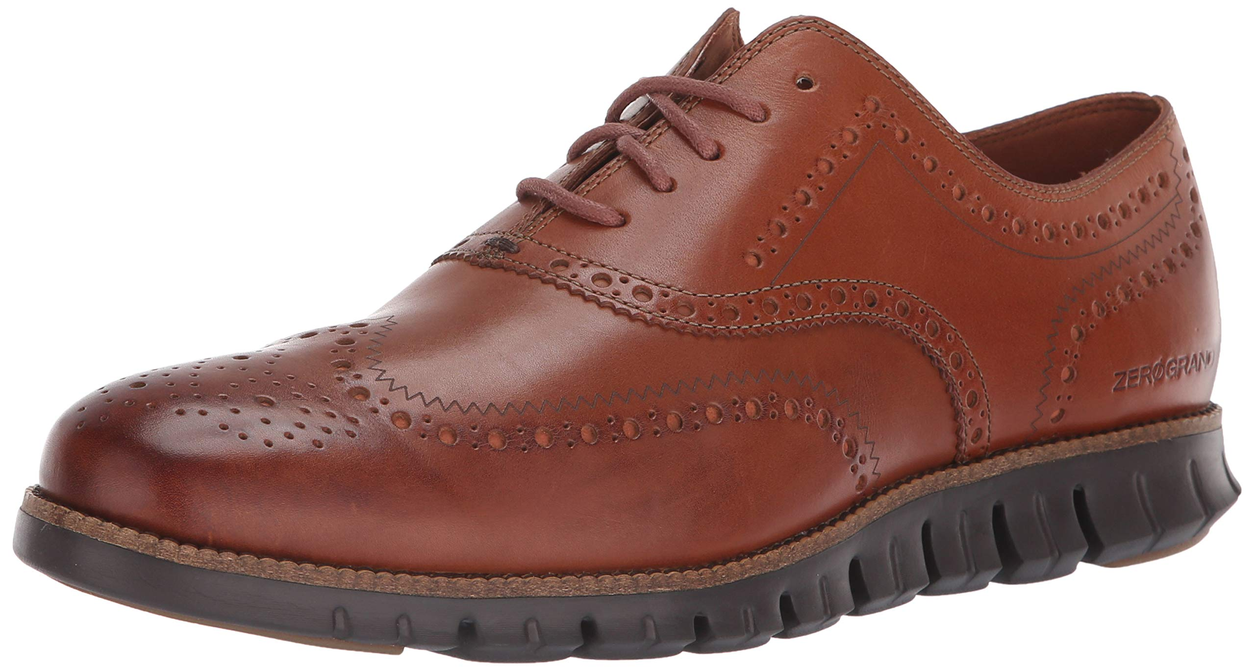 Cole Haan Men's Zerogrand Wing OX Oxford, British tan Leather/Java, 12 M US