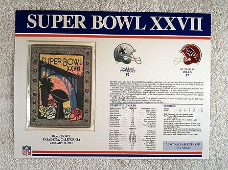 Amazon.com  Super Bowl XXVII (1993) - Official NFL Super Bowl Patch ... 43519e55b