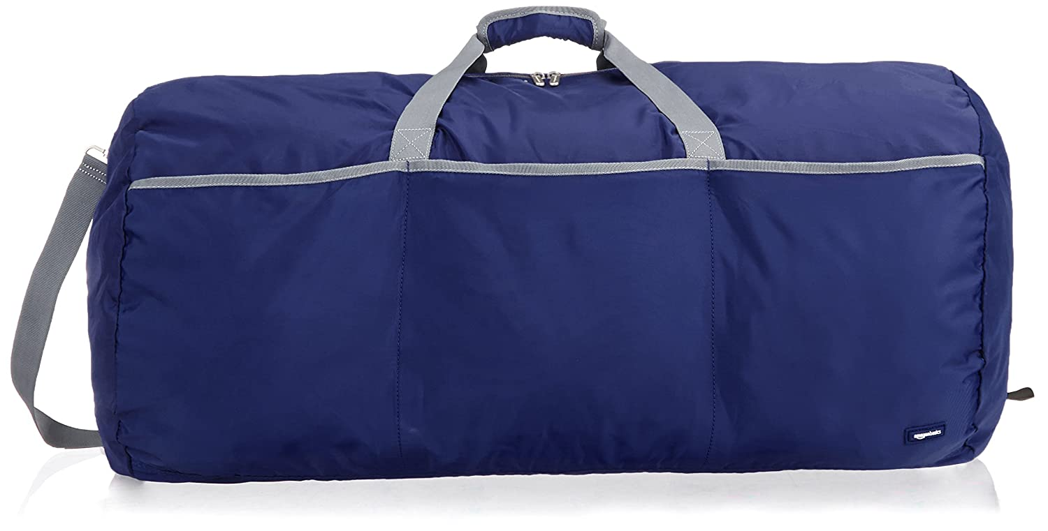 AmazonBasics Large Duffel Bag, Navy Blue ZH1603219R1F