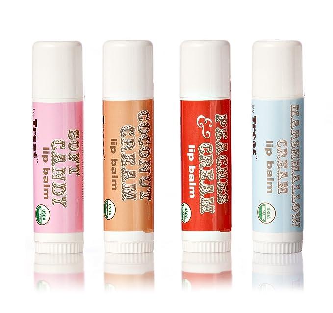 Treat Beauty - Jumbo Organic Lip Balm Bubble Gum - 0.5 oz. (pack of 3) DZT1968 Wooden Handle Facial Face Mud Mask Mixing Brush Cosmetic Makeup Kit
