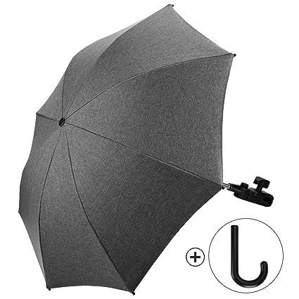 Sombrilla Carrito Bebe Universal Paraguas Carrito Bebe Diámetro 73cm Anti Rayos UV 50+ con Un