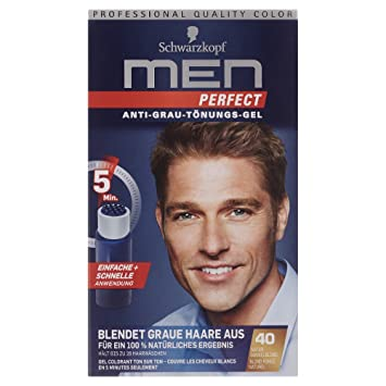 Schwarzkopf Men Perfect Anti Grau Tönungs Gel Stufe 2 40 Natur