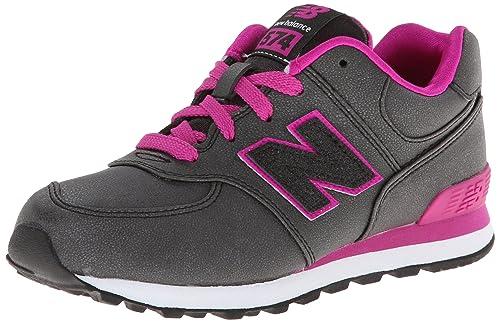 New Balance - Zapatillas de Piel para niña Negro carbón: Amazon.es: Zapatos y complementos