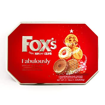 Fabulously Fox S Biscuit Tin 1 Unit Per Order Gourmet Christmas Gift For The Holidays
