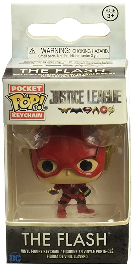 DC- The Llavero de Vinilo Flash, colección Justice League, (Funko 13791)