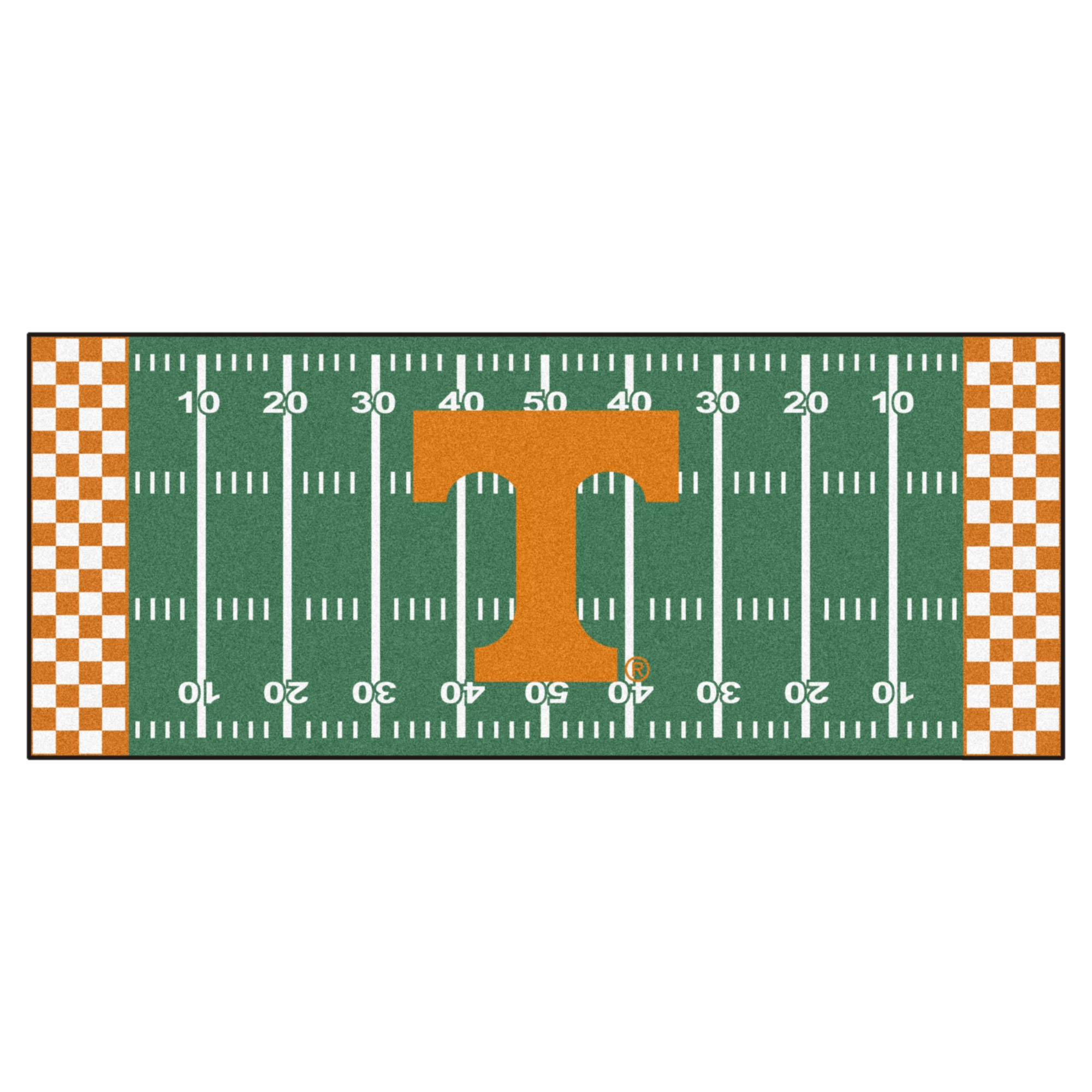 NCAA University of Tennessee Volunteers Football Field Runner Mat Area Rug by Unknown (Image #1)