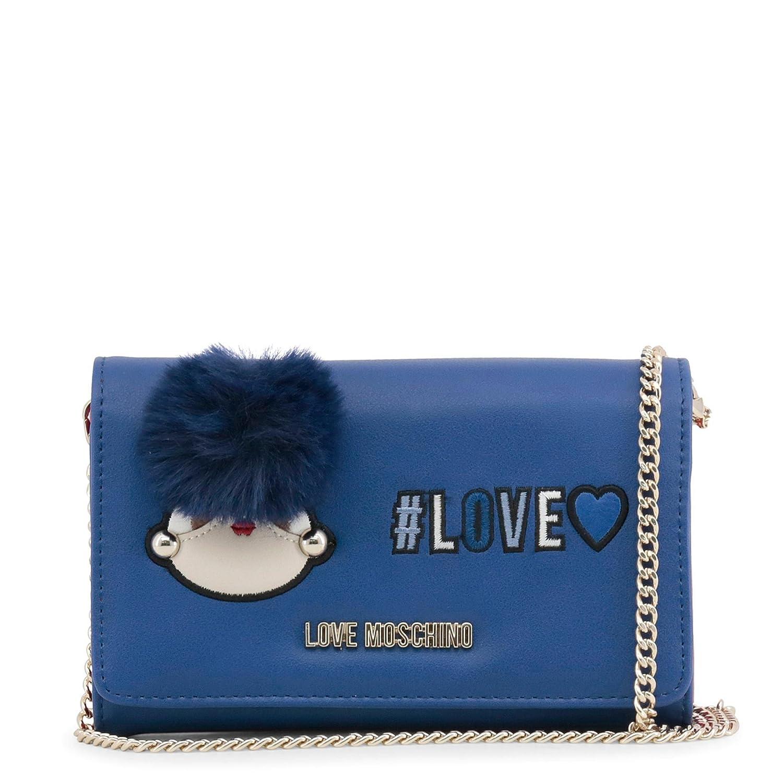 Love Moschino - Monedero de piel sintética, color azul, Azul ...