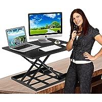 Standing Desk Stand Up Desk Height Adjustable Desk Standing Desk Converter Sit Stand Desk Converter Foldable Desk…