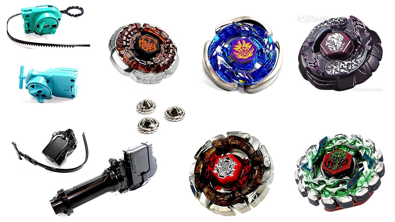 Kampfkreisel 5 XXL Mega Set Metal Fusion 4D KAMFKREISEL Set f/ür beyblades von Rapidity/® B-4