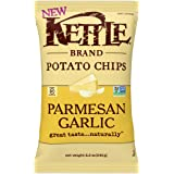 Kettle Brand Potato Chips, Parmesan Garlic Kettle Chips, 8.5 Ounce Bag