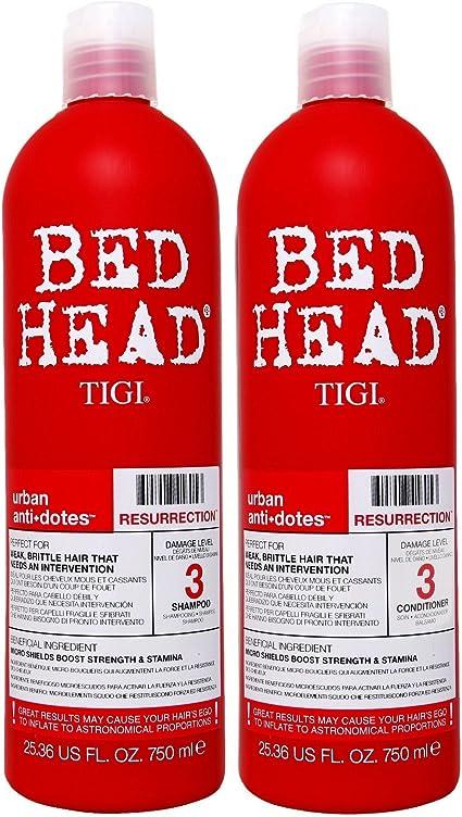 Bed Head by TIGI Champú y Acondicionador Rehabilitación 750 ml (Pack de 2): Amazon.es: Belleza