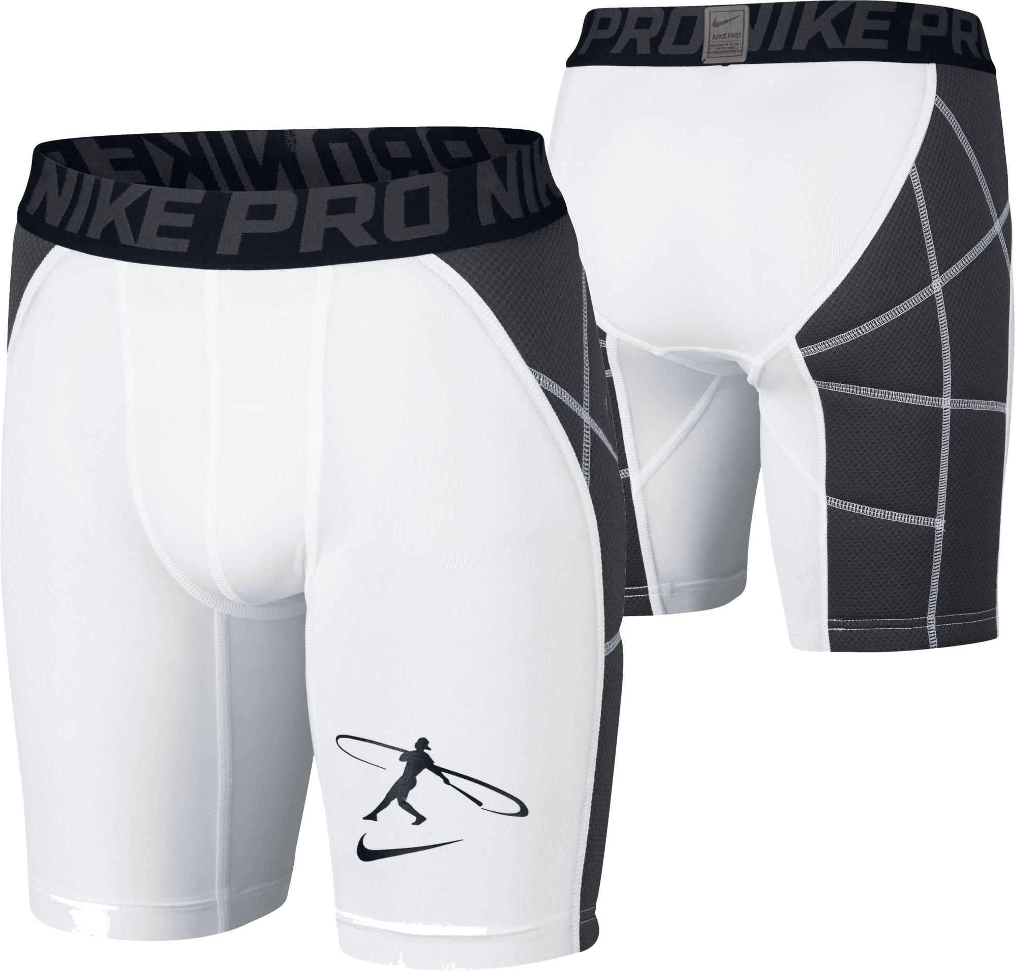 NIKE Boys' Swingman Sliding Shorts (White, L) by Nike