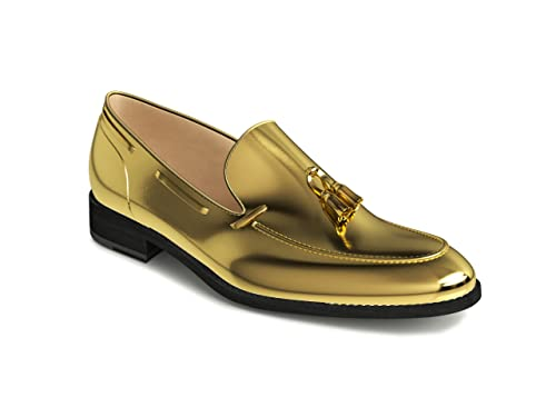 DIS - Romeo- Mocasines con borlas para hombre Dorado Size: 49: Amazon.es: Zapatos y complementos