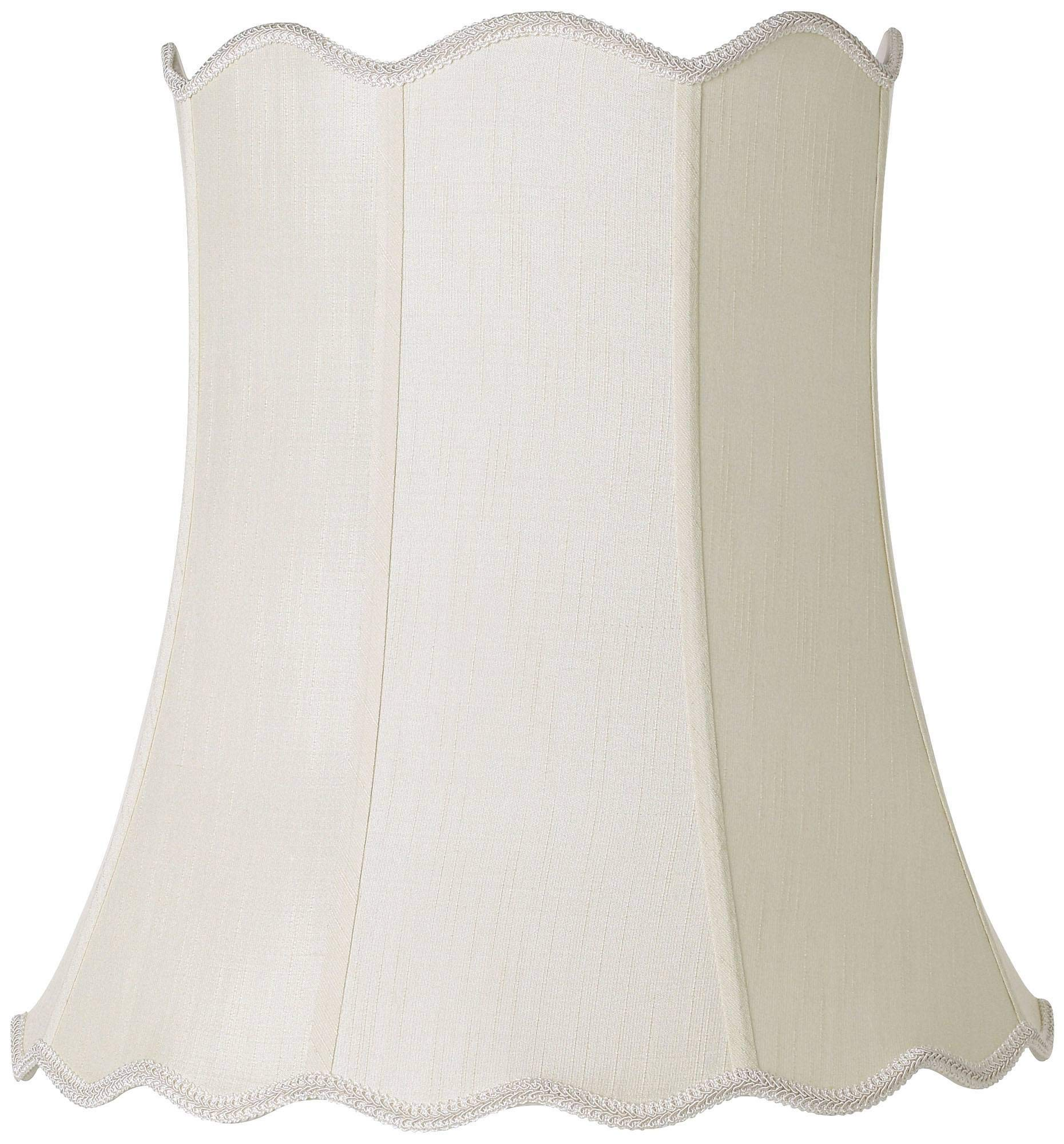 Imperial Creme Scallop Bell Lamp Shade 14x20x20 (Spider) - Imperial Shade