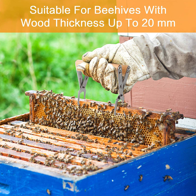 Ape Telaio Grip con manico in legno Pinza per sollevamento a telaio per api strumenti di apicoltura per apicoltori