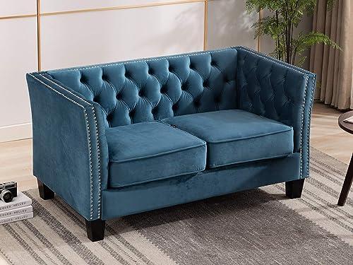 Artechworks Velvet Loveseat Sofa Chair
