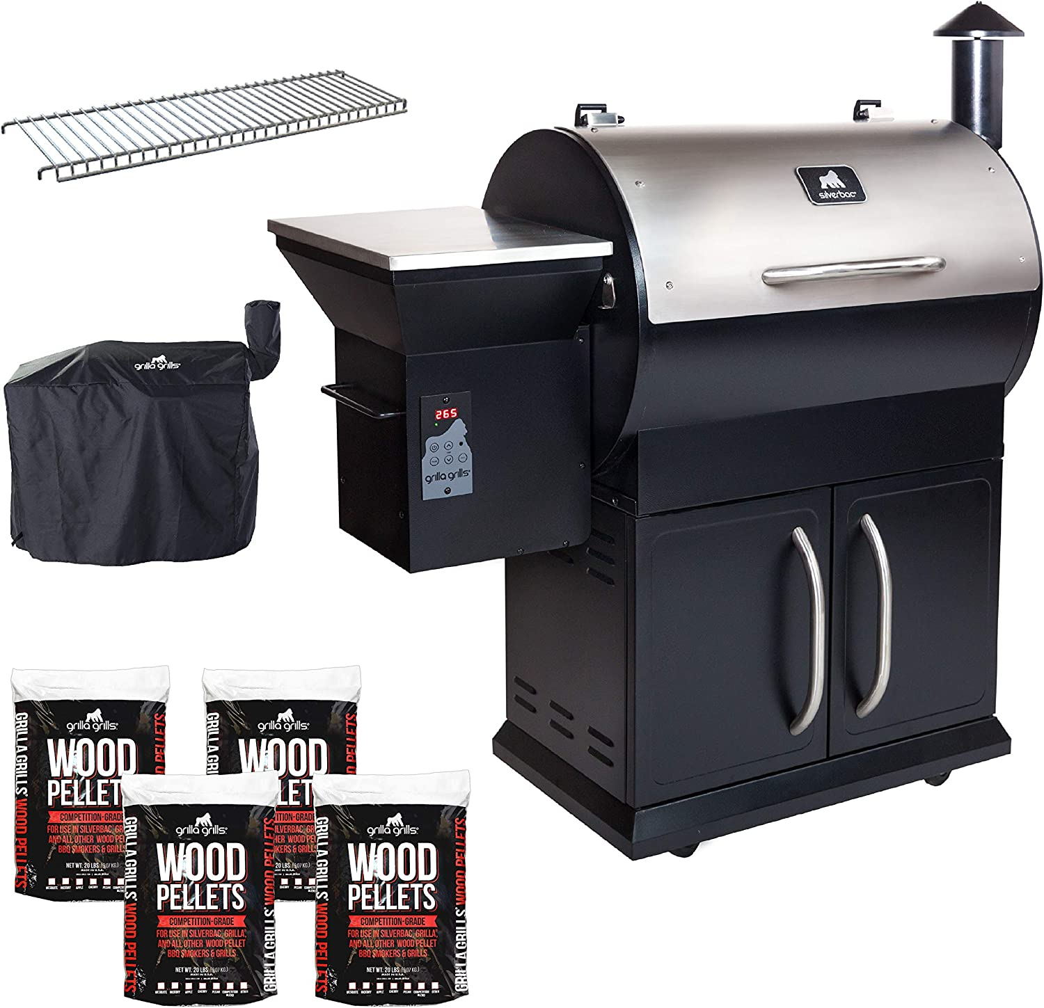 Grilla Grills Smoker and BBQ Wood Pellet Grill