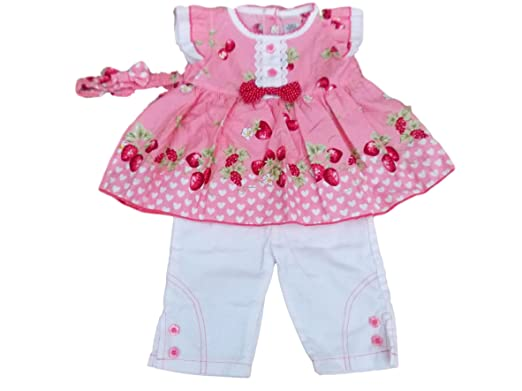 23c79fec1e20 BNWT Baby girl summer Long top   trouser set Clothes outfit (6-9 ...