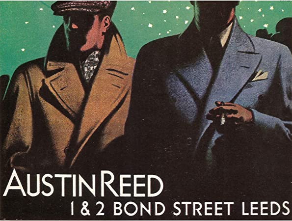 Wee Blue Coo Advertisement Austin Reed Bond Street Leeds Yorkshire 30x40 Cms Fine Art Print Art Poster Bb7232 Amazon Co Uk Kitchen Home