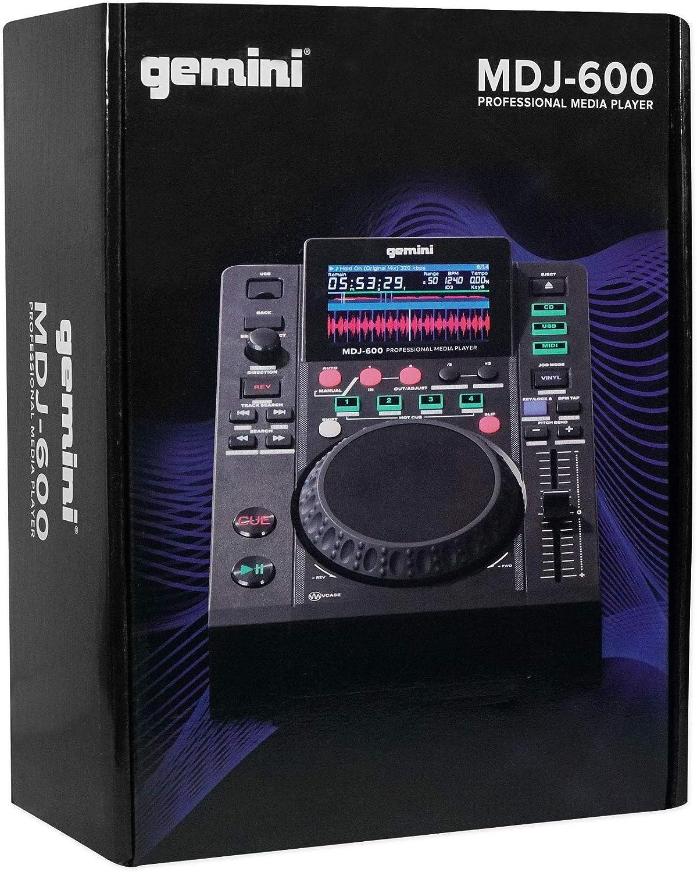 DJ Equipment Gemini MDJ-600 Tabletop USB/CD Media Player DJ MIDI ...
