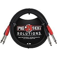Pig Hog PD-21403 - Cable doble mono de 1/4 pulgadas (macho) a cable doble mono de 1/4 pulgadas (macho), 91.4 cm, 3 ft