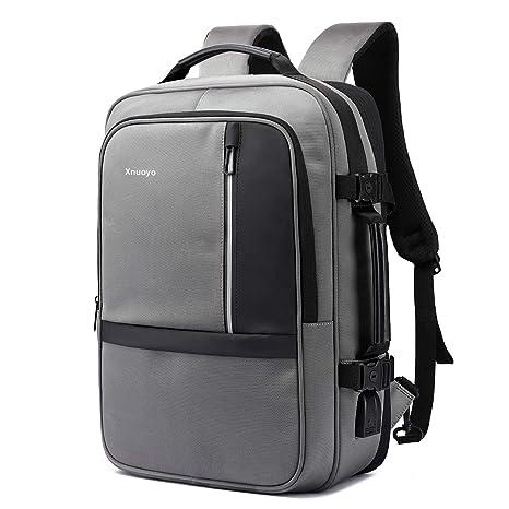 7f708c1a8e Xnuoyo 17.3 Pollici Espandibile Laptop Zaino Antifurto, Impermeabile Zaino  Porta PC Convertibile per Notebook (