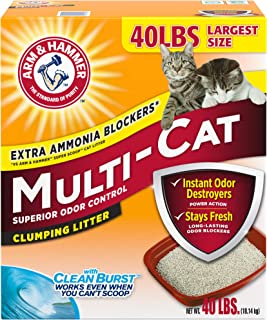 product image for Arm & Hammer Multi-Cat Clumping Cat Litter, Scented 40lb