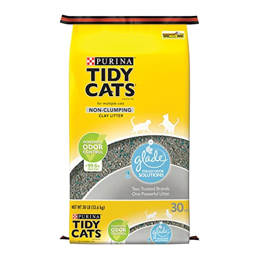 Tidy Cats Cat Litter, Non-Clumping, Glade, 30-Pound Bag, Pack of 1