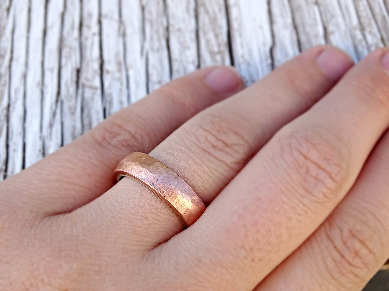 Amazon.com: unique mens ring copper silver, copper wedding ring ...
