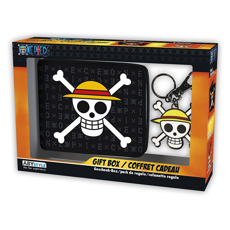 ABYstyle-Monedero con Llavero de One Piece con Calavera y Sombrero de Luffy, ABYPCK114 Abysse Corp_ABYPCK114
