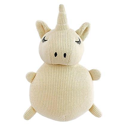 4c2f966b3c619 Houwsbaby Unicorn Woven Toy Stuffed Animals Plush Hand Craft Easter Gift  for Baby Newborn, 9.5'', Light Brown (Unicorn)