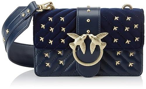 4b2beb1eb90 Pinko Women s 1P217SY514 Shoulder Bag Blue Blu (Blu Iride)  Amazon ...