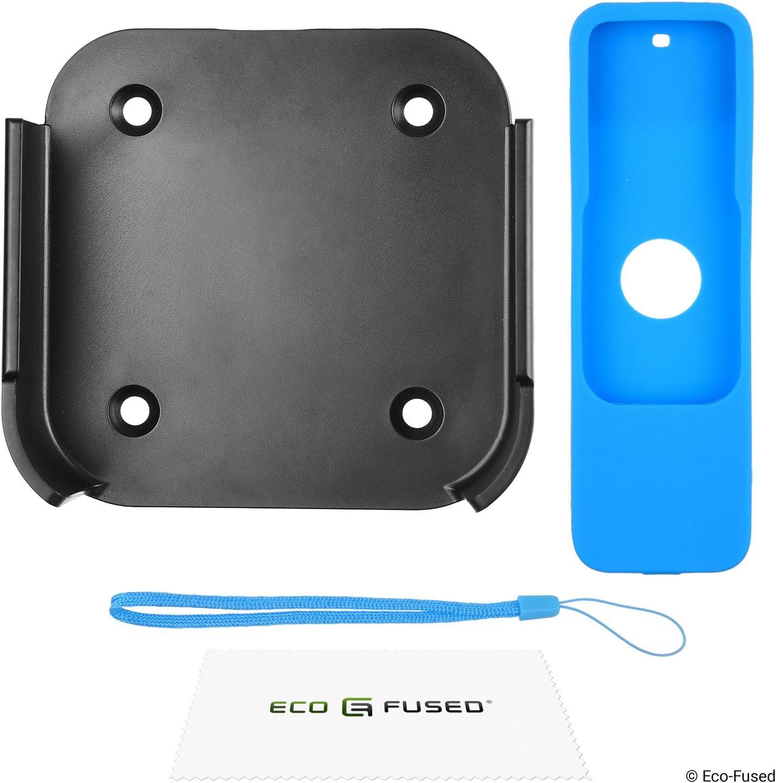 Eco-Fused Cubierta de Control Remoto Compatible con Apple TV con Correa de mu/ñeca 4/ª generaci/ón Protector Antideslizante de Caucho de Silicona Shield Absorci/ón de Golpes 3 Paquetes