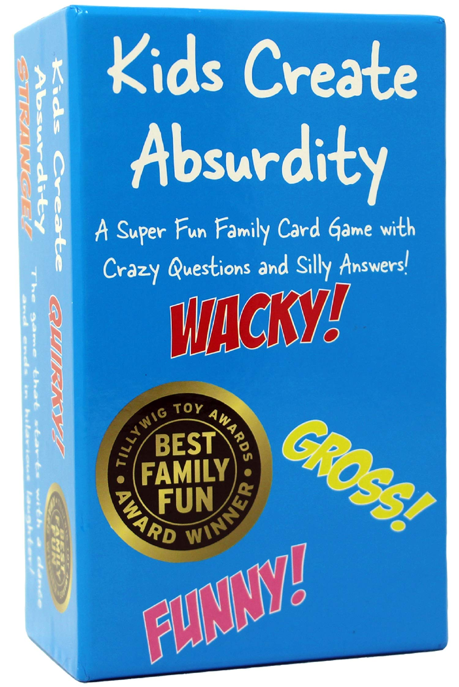Kids Create Absurdity: Laugh Until You Cry! Wacky & Wild Fun Family Card Game for Game Night and Travel-Camp-Vacation!