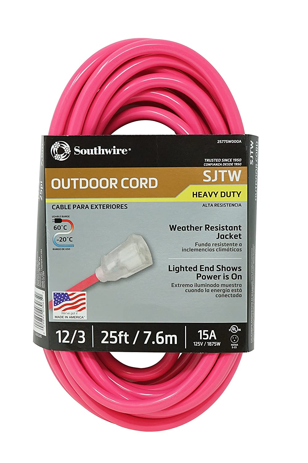 southwire 02577 0a 25 foot 12 3 neon outdoor extension cord rh amazon com