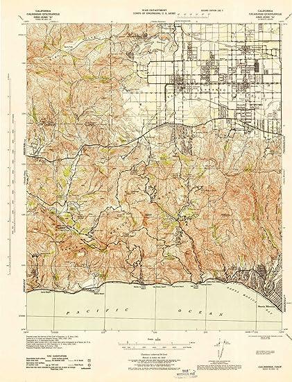 Amazon.com: YellowMaps Calabasas CA topo map, 1:62500 Scale, 15 X 15 on