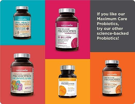 Naturewise - Mezcla probiótica de liberación prolongada y resistente al ácido gástrico, 30 mil millones de UFC, 40 comprimidos Wisebiotics: Amazon.es: Salud ...