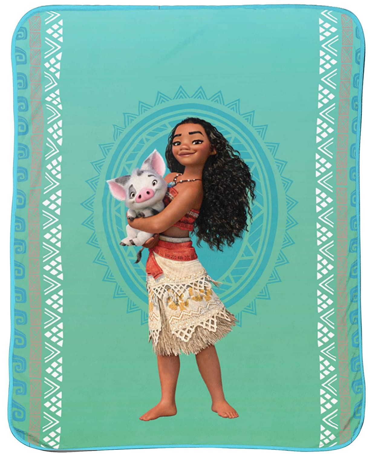 "Disney Moana 'The Wave' Plush 46"" x 60"" Throw"