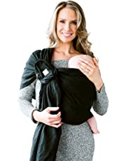 LILLEbaby Ring Sling w/Removable Pocket- Magic (Black) w/Gold