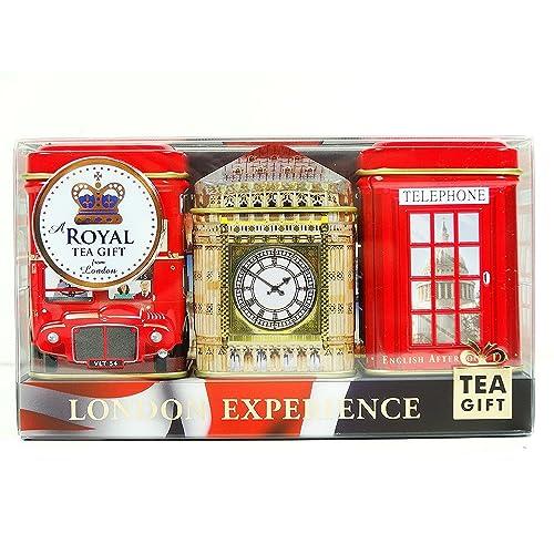 "English Tea Mini Caddy Gift Set ""London Experience"", 3 x 20g/25g Tea Caddies (Qty: 1 Pack)- 1277"